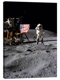 Canvas print  Astronaut of the 10th manned mission Apollo 16 on the moon