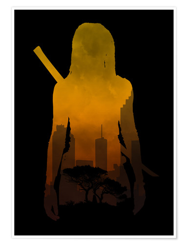 Premium poster The Walking Dead - Michonne - Alternative fanart
