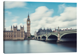 Canvas  LONDON, Big Ben and Westminster Bridge - rclassen
