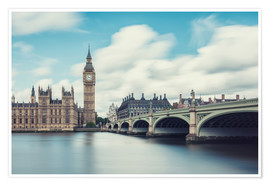 Premium poster  LONDON, Big Ben and Westminster Bridge - rclassen