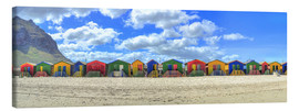 Canvas print  Colorful beach houses in Muizenberg - HADYPHOTO