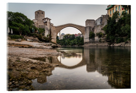 Acrylic print  Stari Most Bosnia in the morning - Mike Clegg Photography