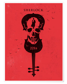 Premium poster Alternative sherlock red version art