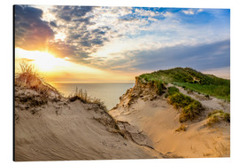 Aluminium print  Sunset in the dunes at Lonstrup - Reemt Peters-Hein