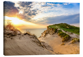 Canvas print  Sunset in the dunes at Lonstrup - Reemt Peters-Hein