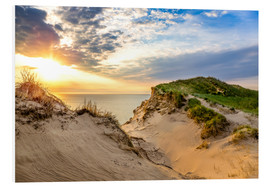 Foam board print  Sunset in the dunes at Lonstrup - Reemt Peters-Hein