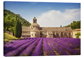 Canvas print  Senanque Abbey with lavender fields - Elena Schweitzer