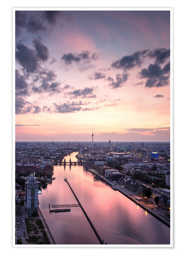 Premium poster Berlin skyline TV tower