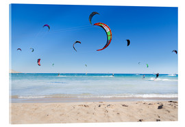 Acrylic glass  Many kitesurfers
