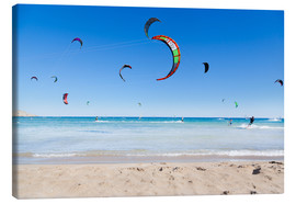 Canvas  Many kitesurfers