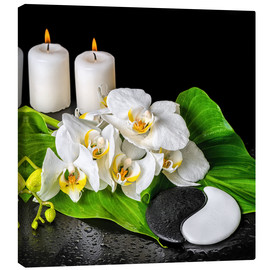 Canvas print  Spa Concept with Candles and Orchids