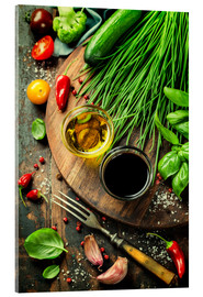Acrylic print  Healthy bio vegetables and spices