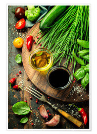 Premium poster Healthy bio vegetables and spices