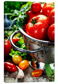 Canvas print  Tomatoes in the sieve