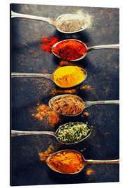 Aluminium print  Spices Mix