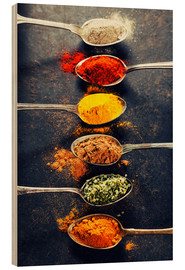 Wood print  Spices Mix