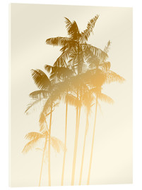 Acrylic print  Palm trees design poster - tobacco - Alex Saberi