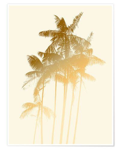Premium poster Palm trees design poster - tobacco