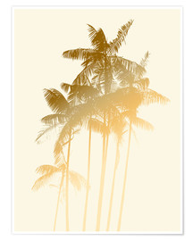 Poster  Palm trees design poster - tobacco - Alex Saberi