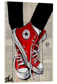 Acrylic glass  Red converse - Loui Jover