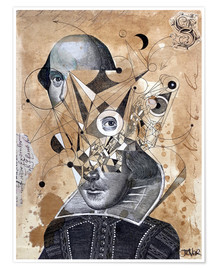 Premium poster Shakespeare as an abstract concept
