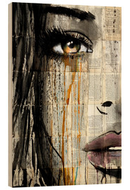 Wood print  Silent jungle - Loui Jover