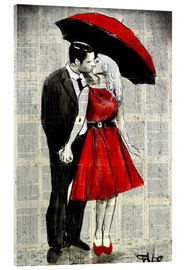 Acrylic print  she wore red - Loui Jover