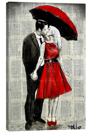 Canvas  she wore red - Loui Jover