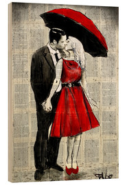 Wood print  She was wearing red - Loui Jover