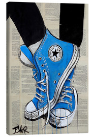 Canvas print  Not without my blue shoes - Loui Jover