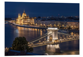 Foam board print  Budapest at night - Elena Papadopolis