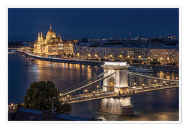 Premium poster Budapest at night