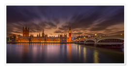 Premium poster London sunset