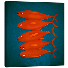Canvas  red fish - Sybille Sterk
