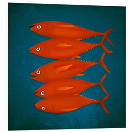 Foam board print  red fish - Sybille Sterk