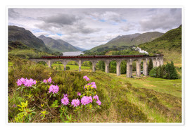 Poster  Glenfinnan Viaduct in Scotland with Jacobite Steam Train - Michael Valjak