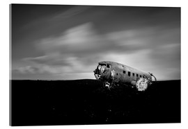 Acrylic glass  Airplane wreck on Iceland - Muharrem Ünal
