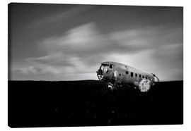 Canvas  Airplane wreck on Iceland - Muharrem Ünal