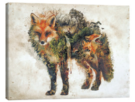 Canvas print  Surreal Fox Nature - Barrett Biggers