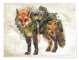 Premium poster  Surreal Fox Nature - Barrett Biggers
