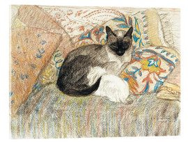 Acrylic print  Siamese Cat and her kitten - Théophile-Alexandre Steinlen