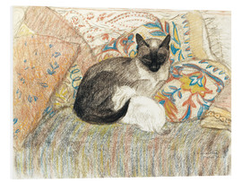 Foam board print  Siamese Cat and her kitten - Théophile-Alexandre Steinlen