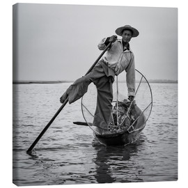 Canvas print  Fisherman in Myanmar - Sebastian Rost