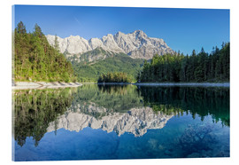 Acrylic print  Lake Eibsee with Mount Zugspitze - Dieter Meyrl