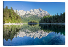 Canvas print  Lake Eibsee with Mount Zugspitze - Dieter Meyrl