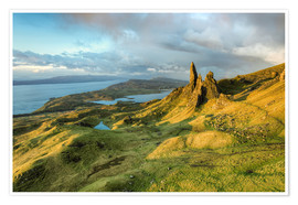 Premium poster Old Man of Storr in the morning light, Isle of Skye, Scotland