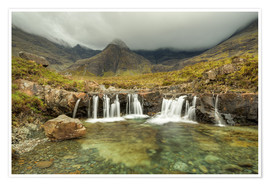 Premium poster Fairy Pools, Isle of Skye, Scotland
