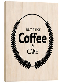 Wood print  Coffee & cake - Dani Jay Designs