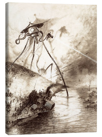 Canvas  Martian Fighting Machine in the Thames Valley - Henrique Alvim Correa