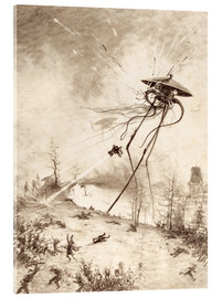 Acrylic glass  Martian Fighting Machine Hit by Shell - Henrique Alvim Correa